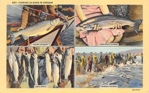 Fishing is Good in Oregon USA Fishing Unused