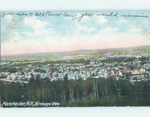 Pinhole Damage Pre-1907 PANORAMIC VIEW Manchester New Hampshire NH A3786
