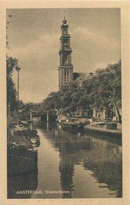Netherlands Amsterdam west tower Postcard