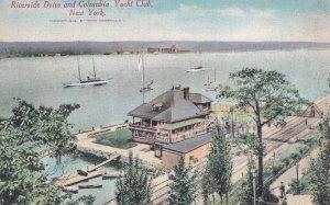 NEW YORK CITY, New York, 1900-1910s; Riverside Drive And Columbia Yacht Club