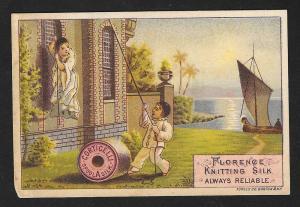 VICTORIAN TRADE CARD Corticelli Silk Thread