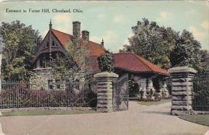 Ohio Cleveland Entrance To Forest Hill Cemetery 1910
