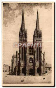 Old Postcard Quimper (Finistere) after a drawing of the feather A Bars