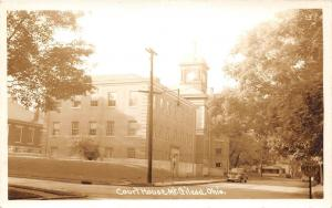 E29/ Mt Gilead Ohio Real Photo RPPC Postcard c1940s Morrow County Court House 2