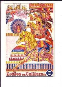 London for Children from Carol Barker Transport Poster 1973, Hobby Horse