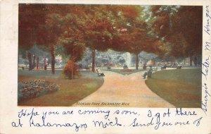 Bronson Park, Kalamazoo, Michigan, Early Postcard, Used in 1906