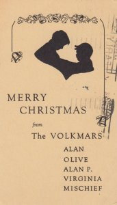 Merry Christmas from The Volkmars , Chicago , Illinois , 1934