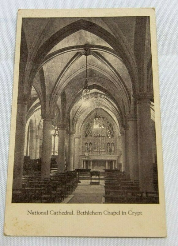 Vintage Postcard - Washington DC Bethlehem Chapel 1927 B&W Photo