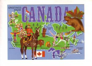 Greetings From Canada -  Pictorial Map