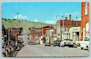Cripple Creek CO~Bennett Avenue~Aspen's~Imperial Hotel~Police & Water~1960s Cars