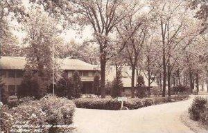 Wisconsin Delavan Lake Lawn Motel Real Photo RPPC 1941