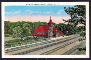 Michigan Central Depot Niles MI unused c1930's