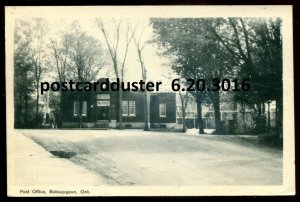 3016 - BOBCAYGEON Ontario Postcard 1949 Post Office by PECO