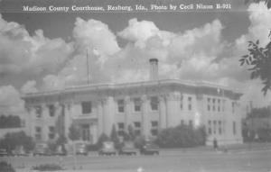 Rexburg ID~1940s Cars @ The Madison County Courthouse~Cecil Nixon RPPC Postcard