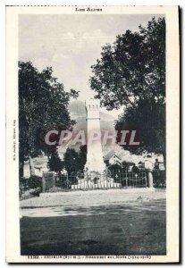 Postcard Old Embrun War Memorial