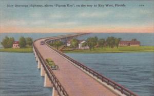 Florida Overseas Highway Bridge At Pigeon Key In The Florida Keys
