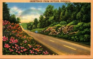 Indiana Greetings From Butler