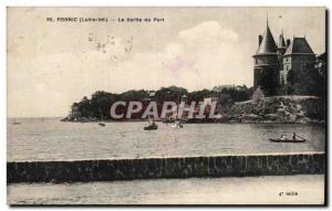 Old Postcard Pornic The output port
