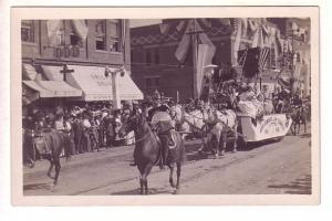 Real Photo, Parade, Float, Horses and Riders, Bozeman, Montana,
