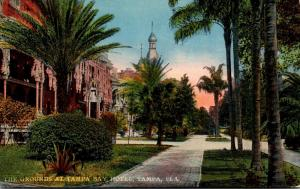 Florida Tampa The Grounds At Tampa Bay Hotel 1918 Curteich
