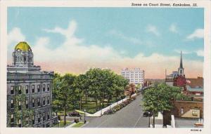 Illinois Kankakaee Scene On Court Street Curteich