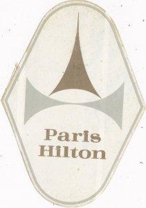 France Paris Hilton Hotel Vintage Luggage Label sk2105