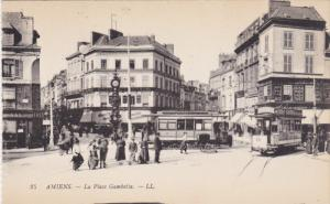 AMIENS, Somme, France, 1900-1910´s; La Place Gambetta, Cable Cars