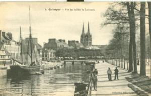 France, Quimper, Vue des Allees de Locmaria, early 1900s ...