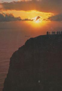 North Cape Sunset Norway Norwegian Postcard