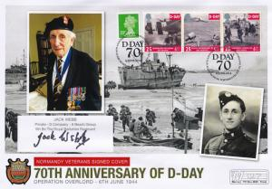 Jack Webb Berkshire Regiment 5th Batlalion Hand Signed WW2 D-Day FDC