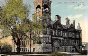 Oskaloosa Iowa~High School~Towers~Belfry~Fire Escapes~1912 Acmegraph Co Postcard