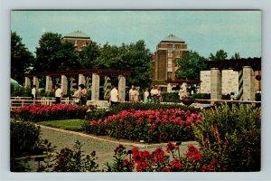 Quebec- Canada, Botanical Garden, Scenic Pathways, Flowers, Chrome Postcard
