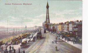 Bird's Eye View, Central Promenade, Street Cars, Docked Boats, Blackpool, Lan...