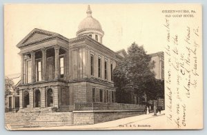 Greensburg Pennsylvania~Old Courthouse~Deadest Town on the Market~1905 B&W TUCK