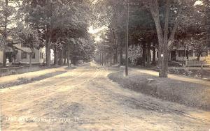Brimfield MA Lake Avenue Dirt Street View RPPC Postcard