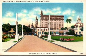 Florida St Augustine Anderson Circle and Cathedral Place