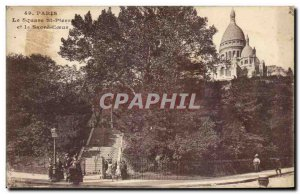 Old Postcard The Paris Square St PlERRE And The Sacre Coeur Montmartre