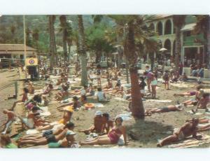 Pre-1980 CROWDED BEACH SCENE Catalina California CA d8051