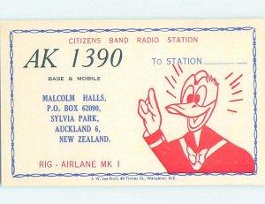 Pre-1980 RADIO CARD - CB HAM OR QSL Auckland New Zealand Australia AH3130