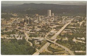 Aerial View of Business Section, Greenville, SC, unused Postcard