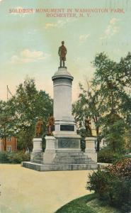 Soldiers Monument in Washington Park, Rochester, New York - pm 1911 - DB