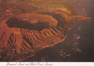 Hawaii Honolulu Aerial View Diamond Head and Black Point