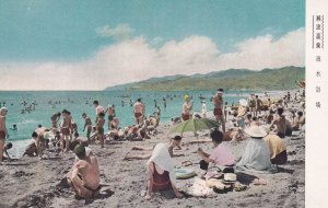 JAPAN, 1900-1910's; Senami Onsen Beach