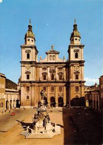 Salzburg Austria Cathedral with column of the Virgin Salzburg Cathedral with ...