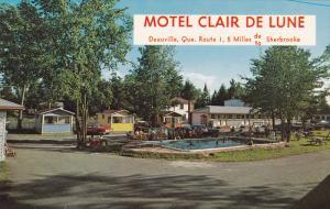 Swimming Pool, Claire de Lune Motel, DEAUVILLE, Quebec, Canada, 40-60s