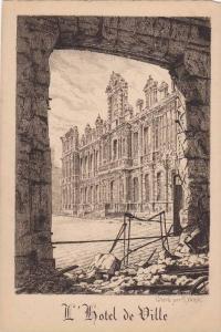 AS: L'Hotel de Ville, Grave par R. Varin,  10-20s