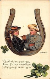 Raphael Tuck Series 2769 Good Luck F. Earl Christy Poem Horseshoe Postcard 2
