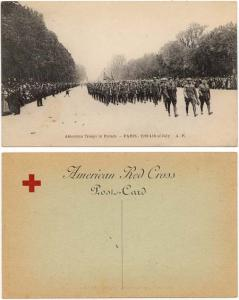 American Red Cross - 1st World War Photo Postcard Paris 1918