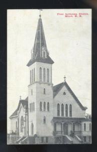 MINOT NORTH DAKOTA FIRST LUTHERAN CHURCH VINTAGE POSTCARD ND CRESTON IOWA