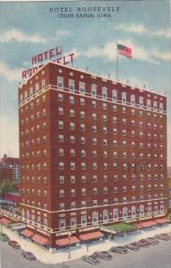 Iowa Cedar Rapids Hotel Roosevelt 1950